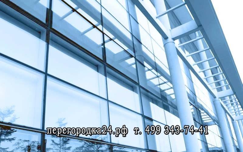 установка стеклянных фасадов